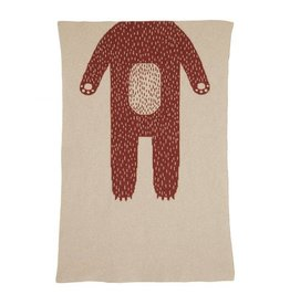 Donna Wilson Mini Bear Blanket - Oatmeal + Brown