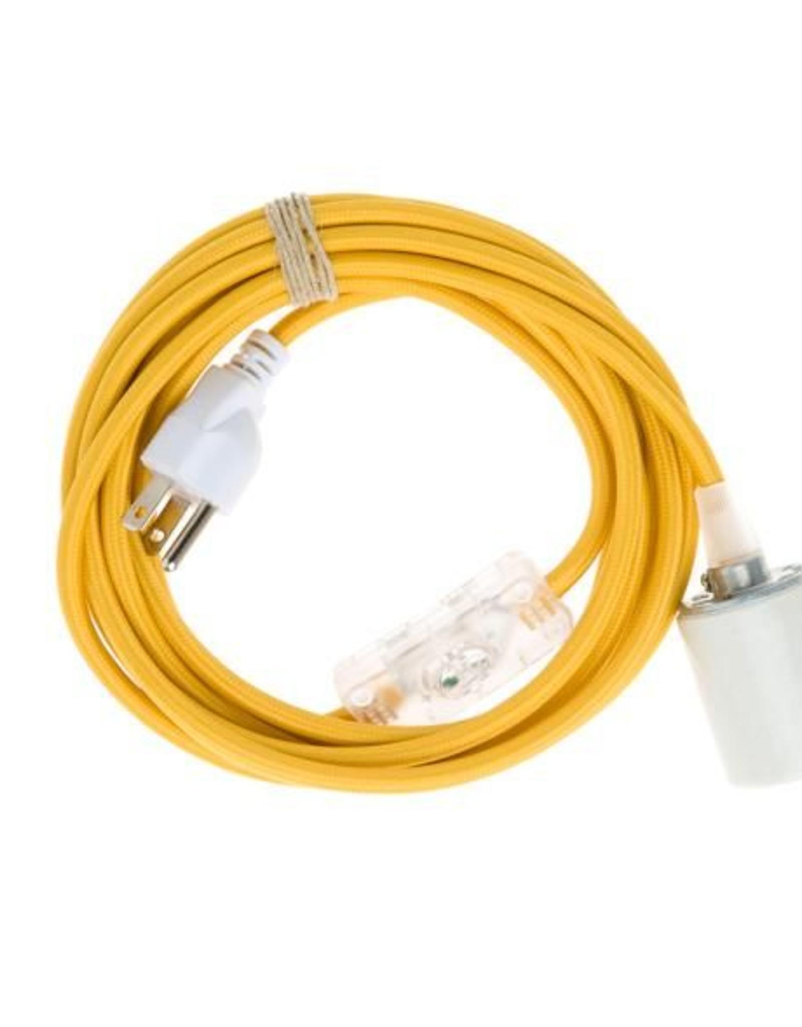 Color Cord Company Porcelain Plug-In Cord Set - Goldenrod