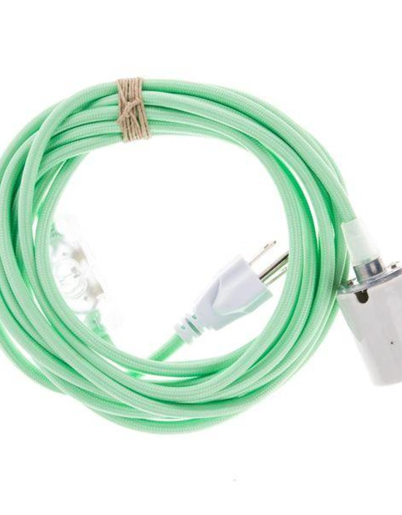 Color Cord Company Porcelain Plug-In Cord Set - Mint Green