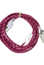 Color Cord Company Porcelain Plug-In Cord Set - Magenta + Orange