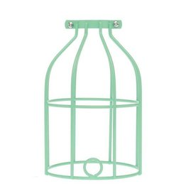 Color Cord Company Industrial Light Bulb Cage - Mint