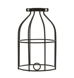 Color Cord Company Industrial Light Bulb Cage - Black