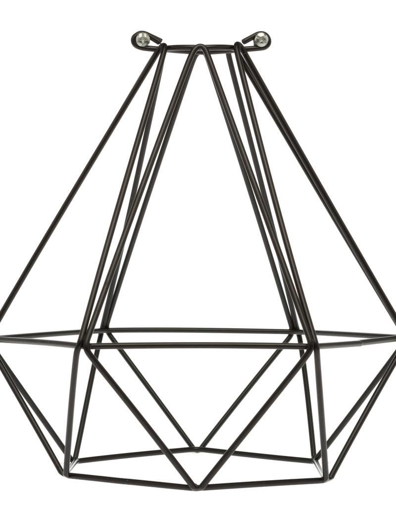 Color Cord Company Geometric Light Bulb Cage - Black