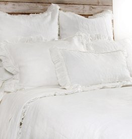 Pom Pom at Home Mathilde Lumbar Pillow with Ruffled Edge - Cream