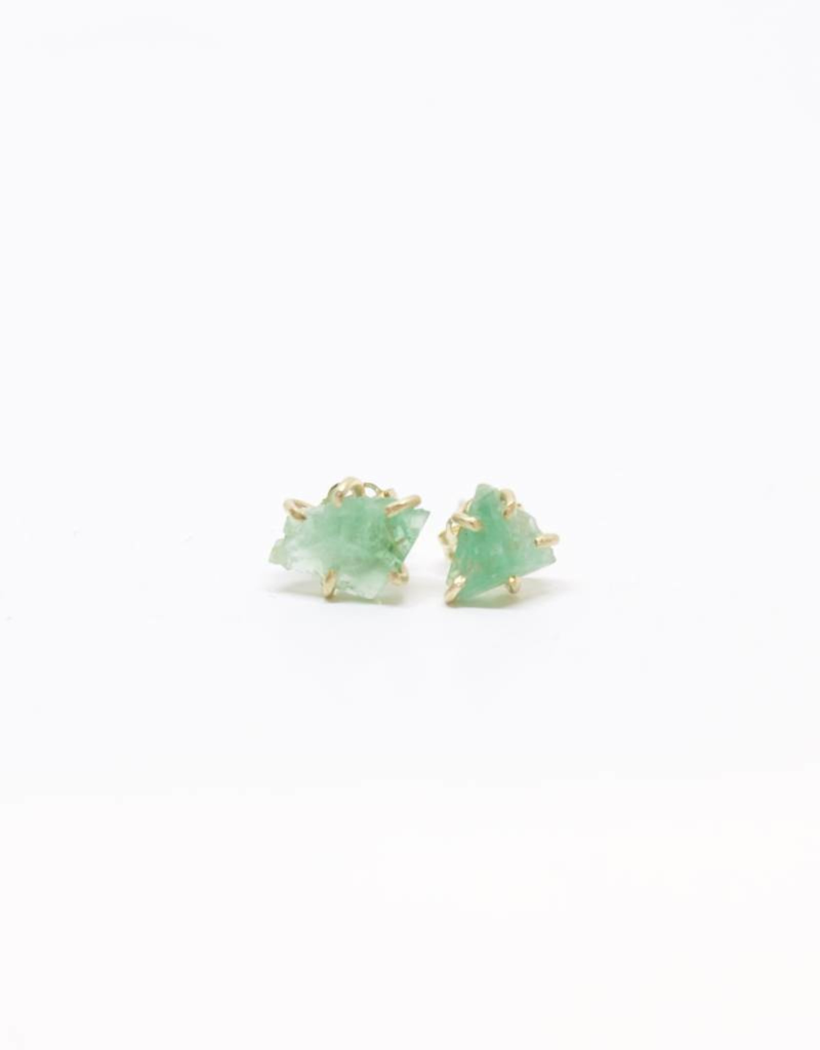 Variance Objects Emerald Small Studs