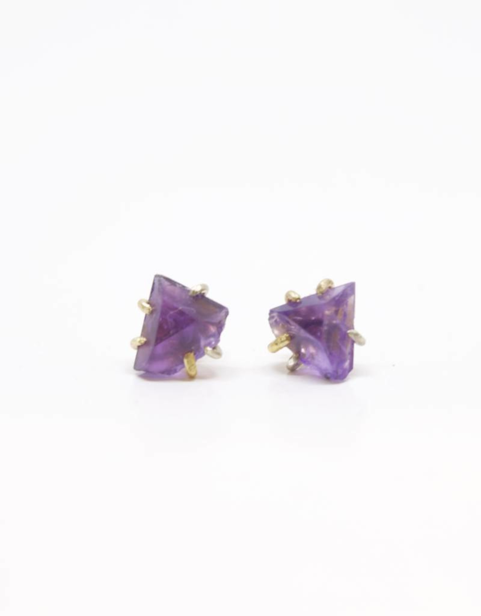 Variance Objects Amethyst Large Studs