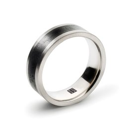 Konzuk Coal Black Concrete Ring - Thick