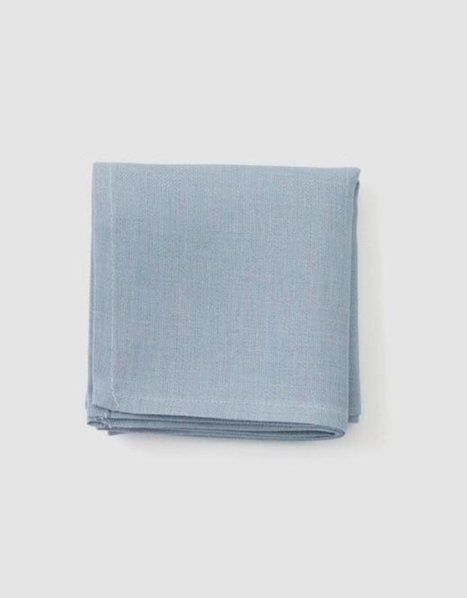 Fog Linen Handkerchief - Blue Grey