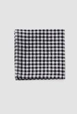 Fog Linen Handkerchief - Black + White Checker