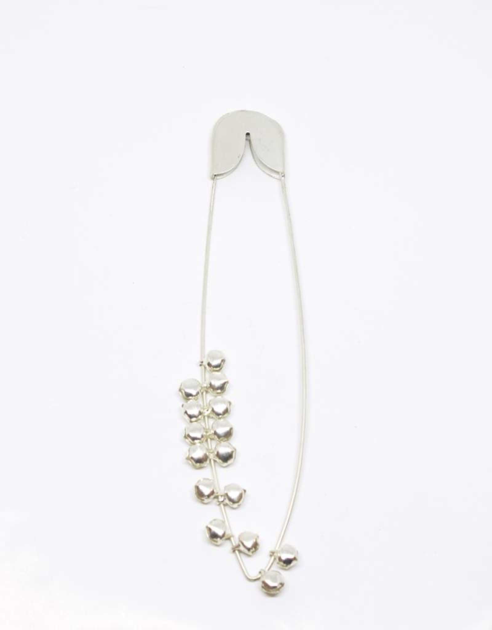 Fog Linen Silver Safety Pin with Bells - Medium