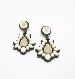 Finn Sofia Earrings - Ivory + Gold