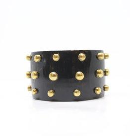 MooMoo Designs TS Raised Stud Bracelet - Dark