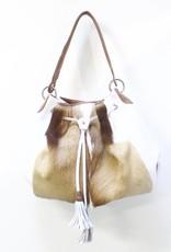 MooMoo Designs Jabulani Handbag - Ice White