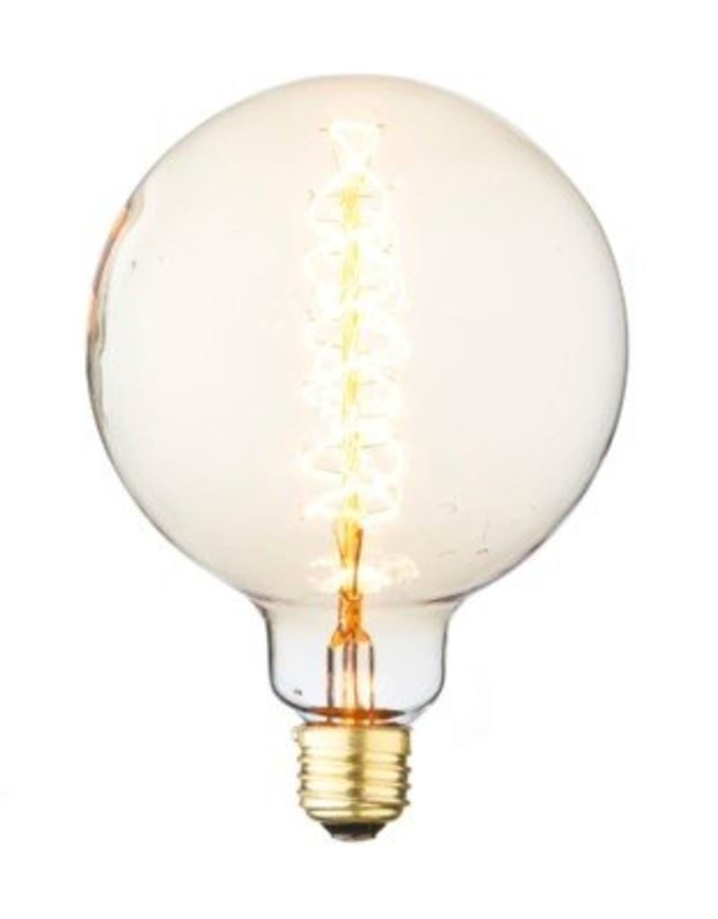 Extra Large Vintage Round Bulb - Spiral