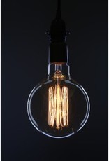 Large Vintage Round Bulb - Lines