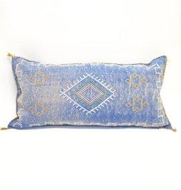 House of Cindy Sabra Extra Large Lumbar Pillow - Blue