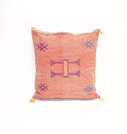 House of Cindy Sabra Small Square Pillow - Red