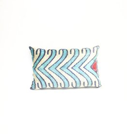 Tasdemir Rugs Ikat Silk Pillow - Lumbar