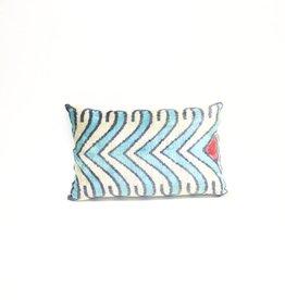 Tasdemir Rugs Ikat Silk Pillow - Lumbar