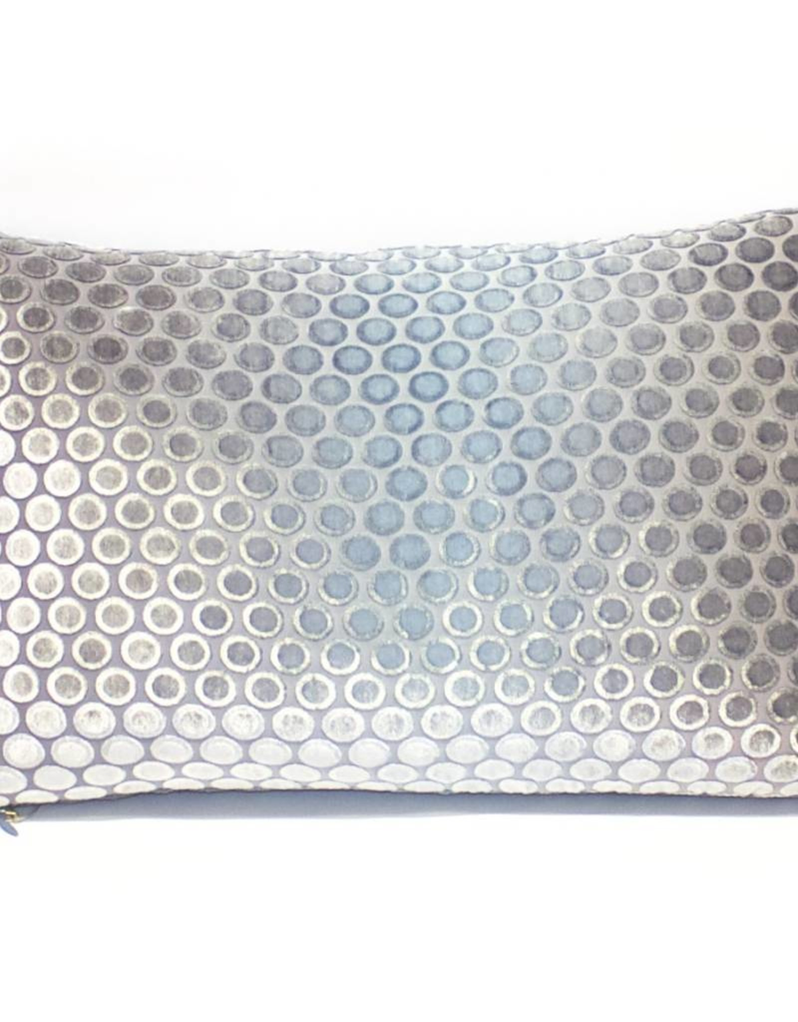 "Kevin O'Brien Studio Dots Silk Velvet Pillow - Dusk (Lumbar 12"" x 18"")"