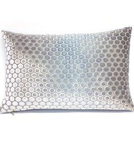 """Kevin O'Brien Studio Dots Silk Velvet Pillow - Dusk (Lumbar 12"""" x 18"""")"""