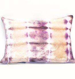 Kevin O'Brien Studio Rorschach Silk Velvet Pillow - Iris