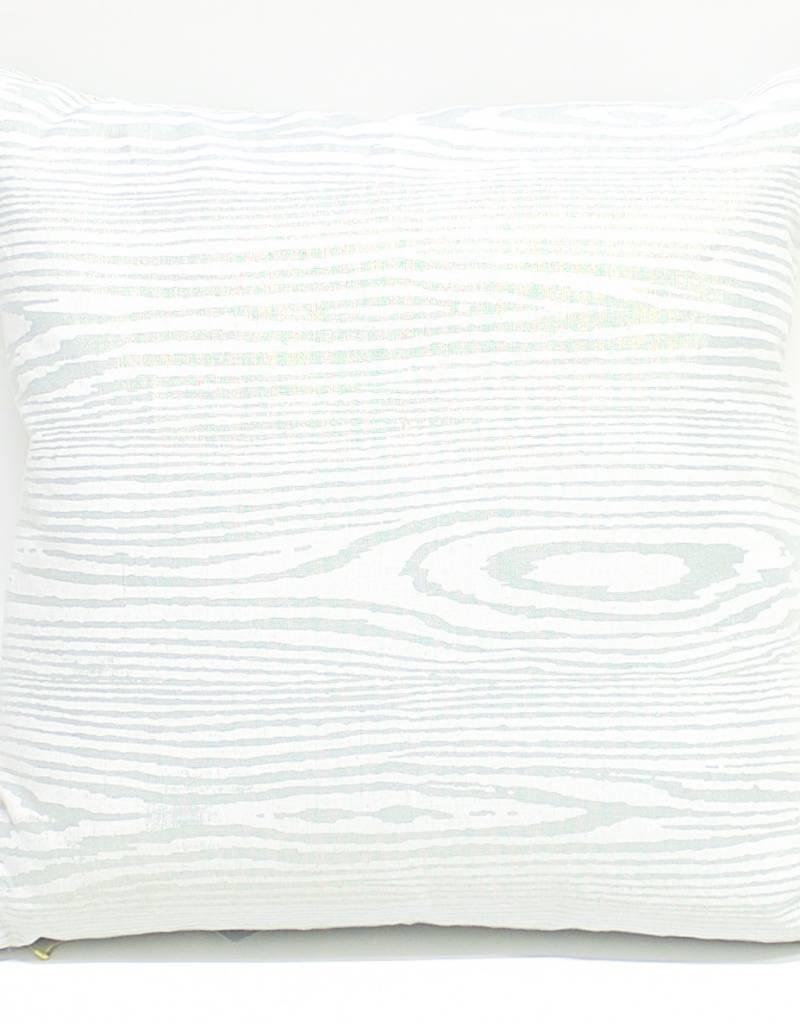Kevin O'Brien Studio Woodgrain Metallic Linen Pillow - Blue