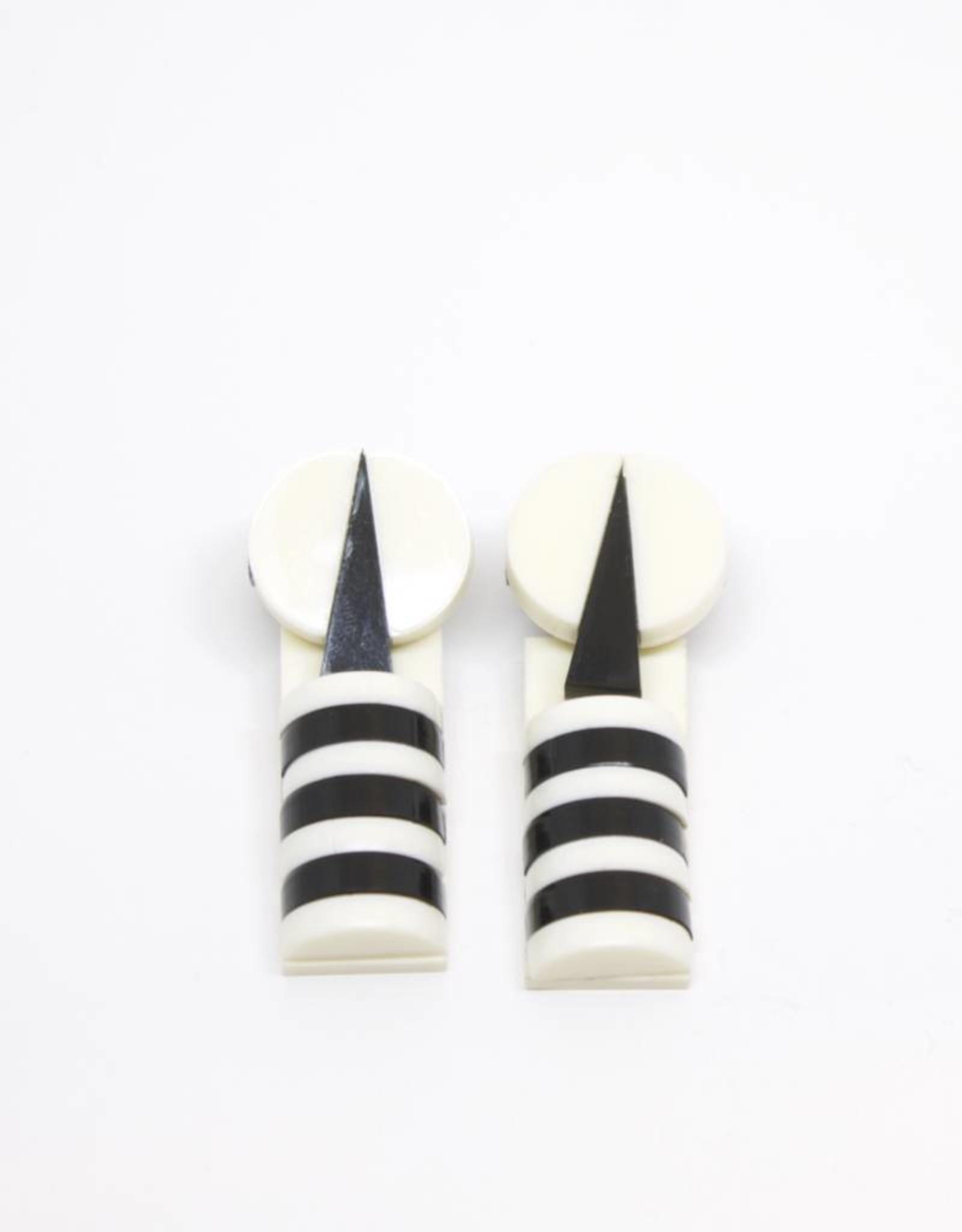 Finn Tribal Stripes Earrings - Black