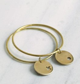 MulXiply XO Bangle Duo - Brass - Medium/Large
