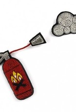 Macon & Lesquoy 'Fire Extinguisher w. Cloud of Smoke' Pin Set