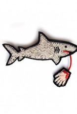 Macon & Lesquoy 'Shark with Hand' Pin