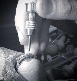 Jasn Altn Half Eternity Dipped Diamond Petal Ring - Two Tone