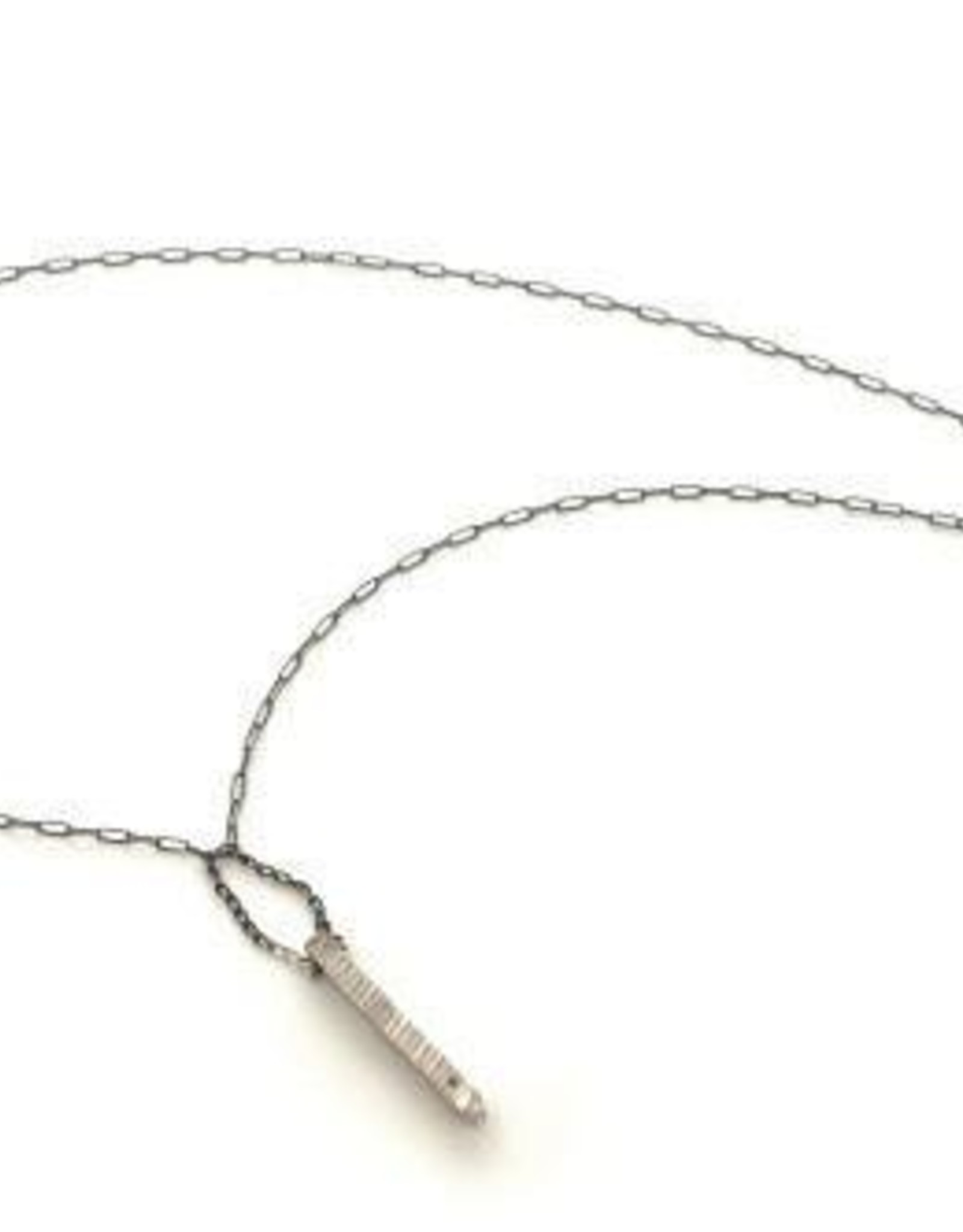 Chikahisa Studio Stonehenge Black Diamond Stick Necklace - Sterling Silver