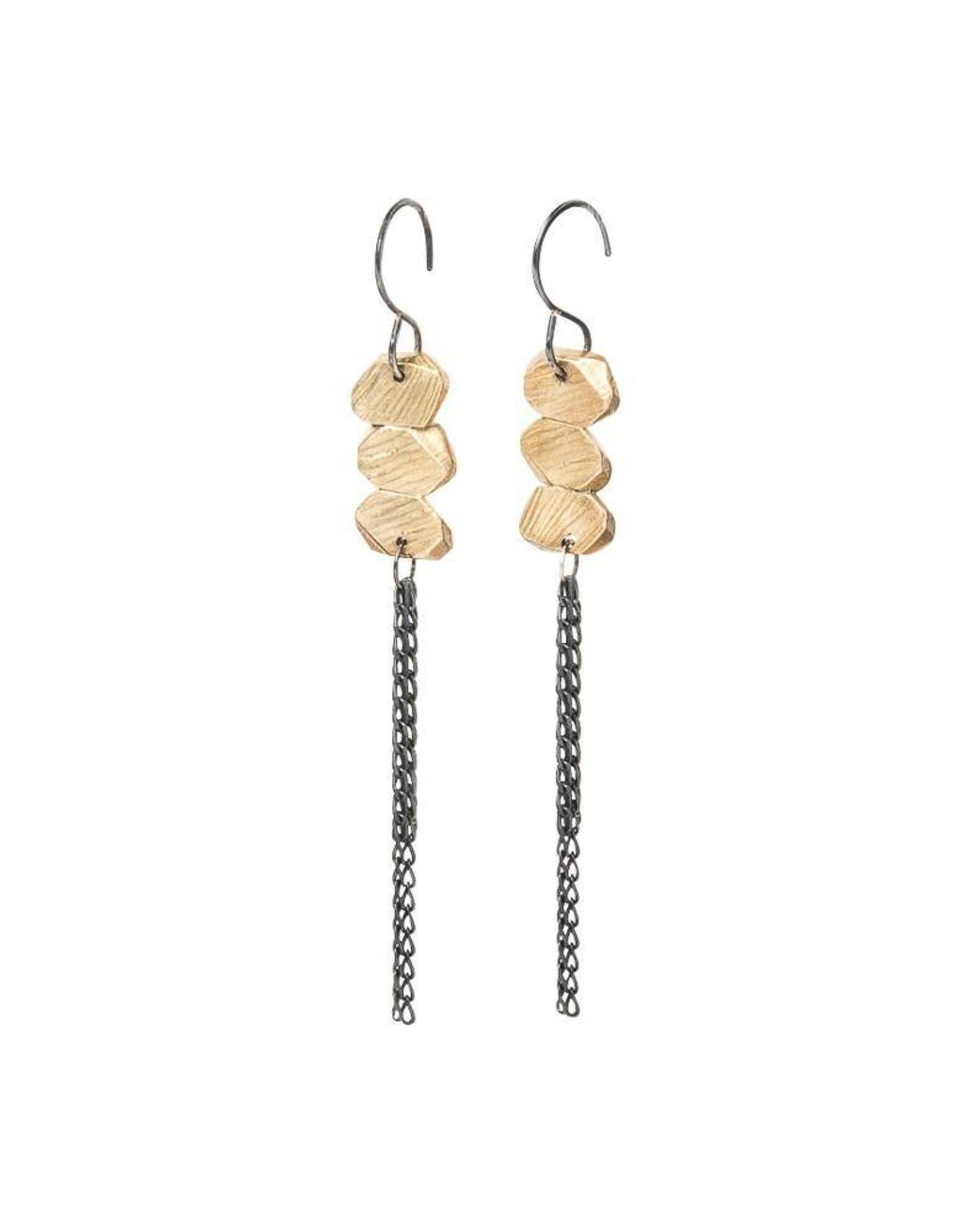 Chikahisa Studio Strata Fringe Earrings - Bronze
