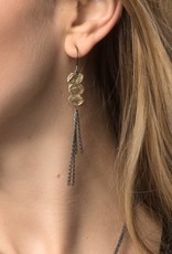 Chikahisa Studio Strata Fringe Earrings - Bronze