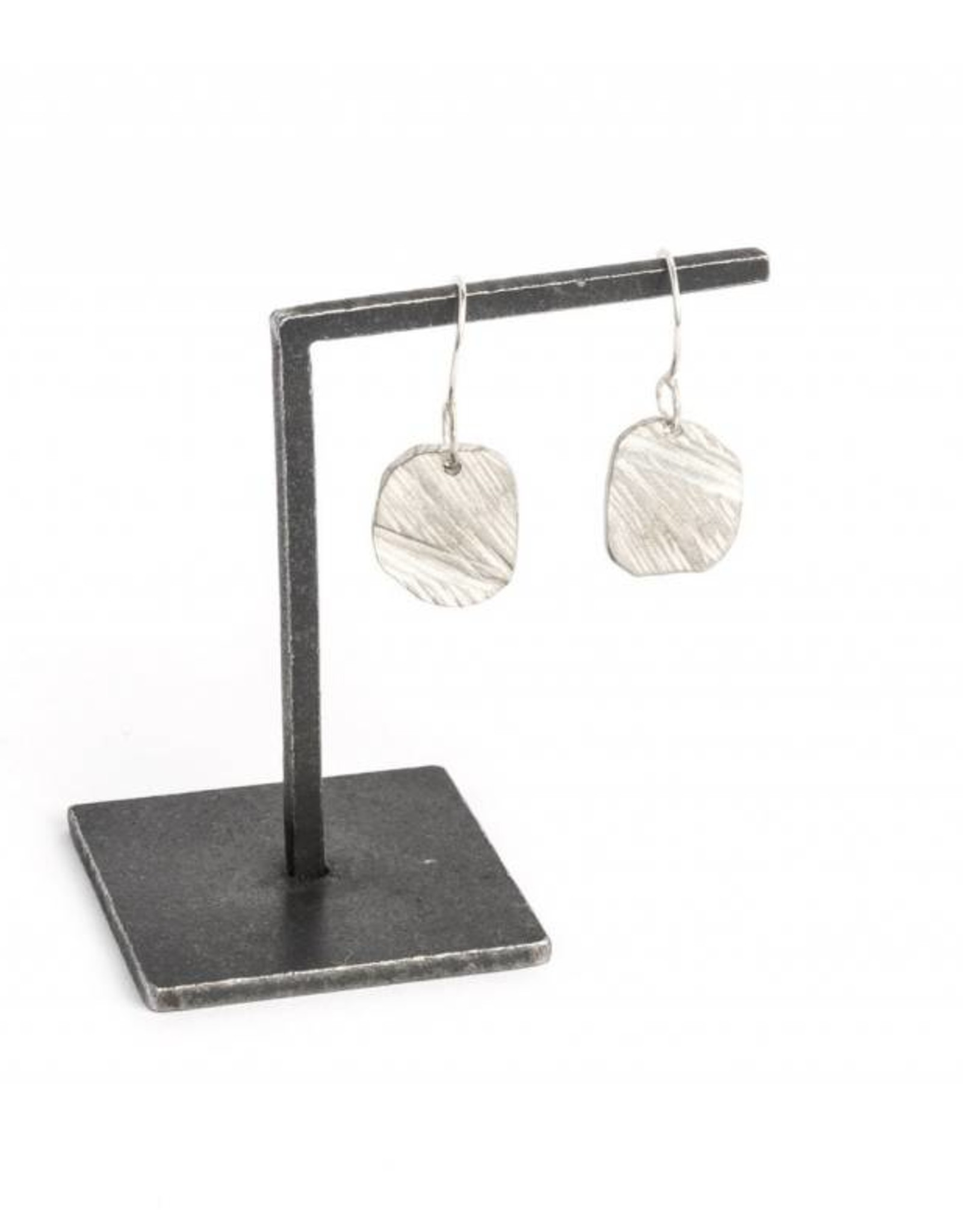 Chikahisa Studio Elemental Square Drop Earrings - Sterling Silver