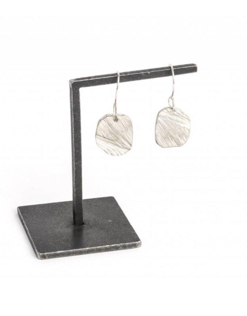 Chikahisa Studio Elemental Square Drop Earrings - Sterling Silver