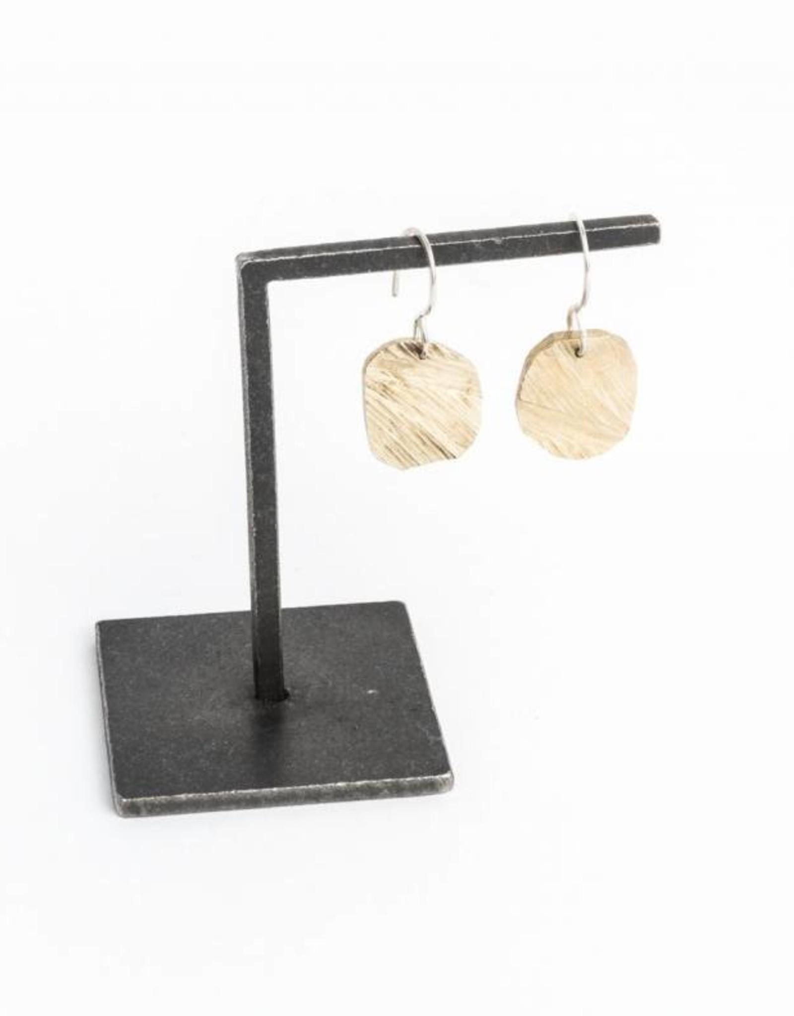 Chikahisa Studio Elemental Square Drop Earrings - Bronze