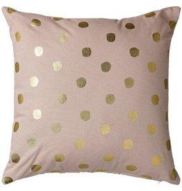 Dots Pillow - Nude + Gold