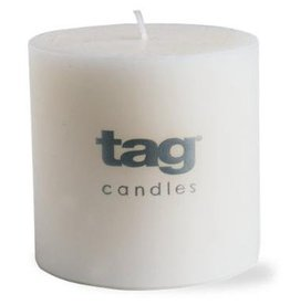 "White Chapel Pillar Candle - 3""x3"""