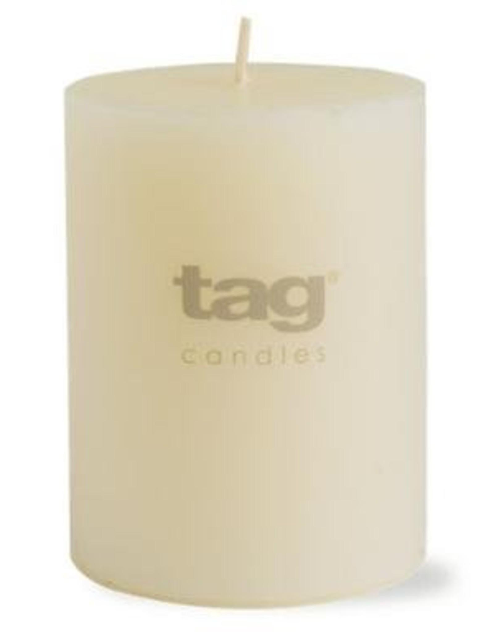 "Ivory Chapel Pillar Candle - 3""x4"""