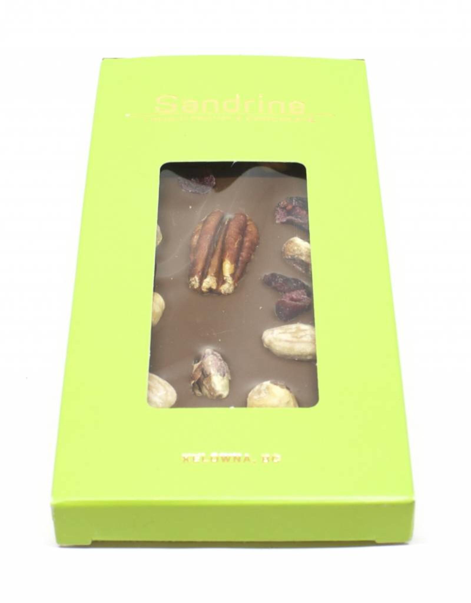 Sandrine Sandrine's Milk Chocolate with Nuts and Dried Fruits Bar