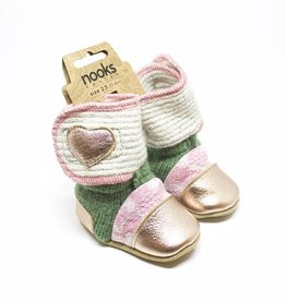 Nooks Velcro Baby Booties - Size 2.5 (3-6 Months)