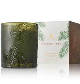 Thymes Frasier Fir Candle - Molded Green Glass