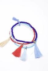 Rhapsody Bracelet - Navy + Sky Blue