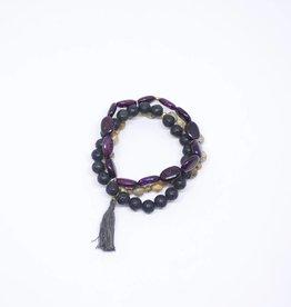 Pali Bracelet - Dark Tassel