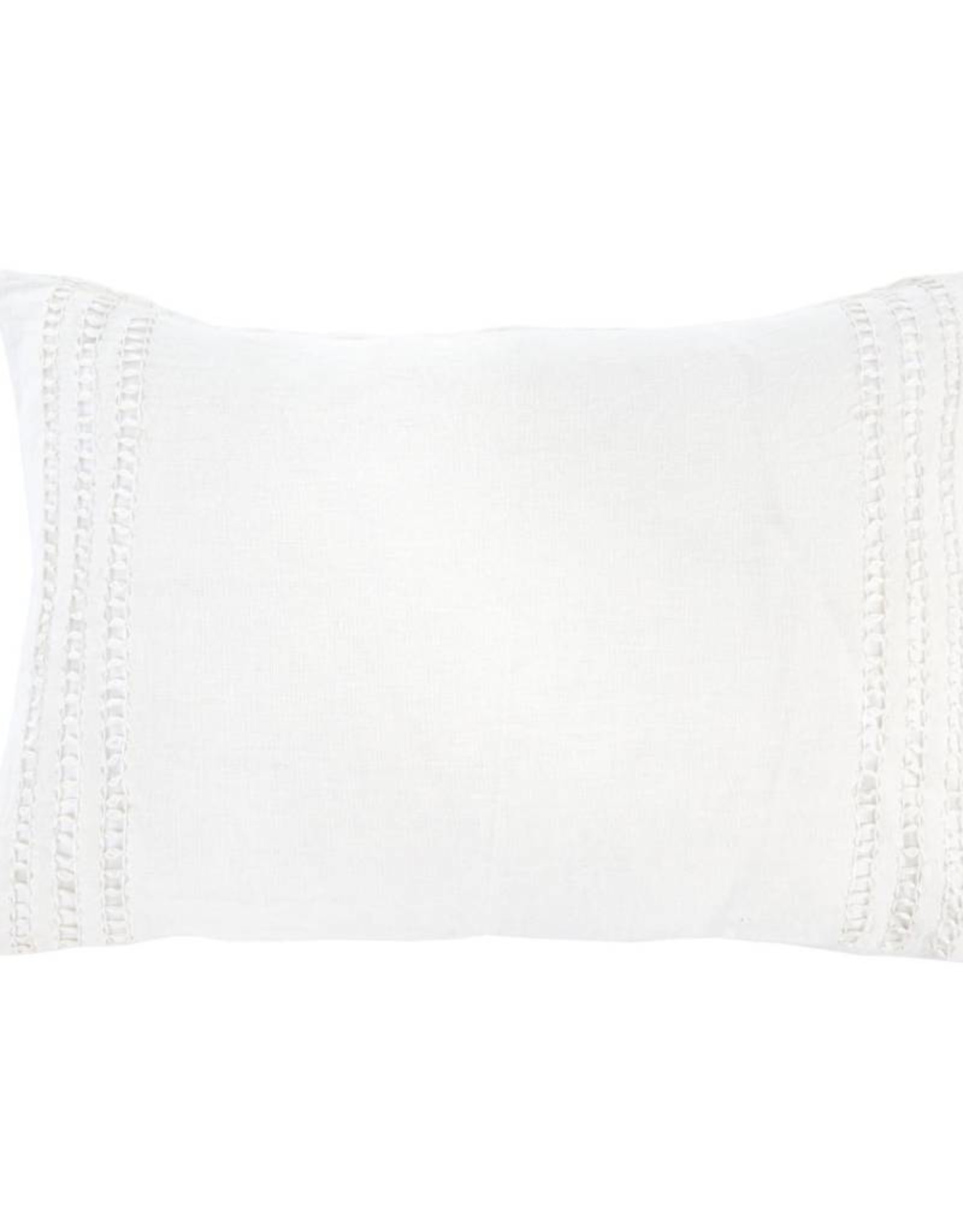 Coventina Lumbar Pillow - White - Vertical Pattern