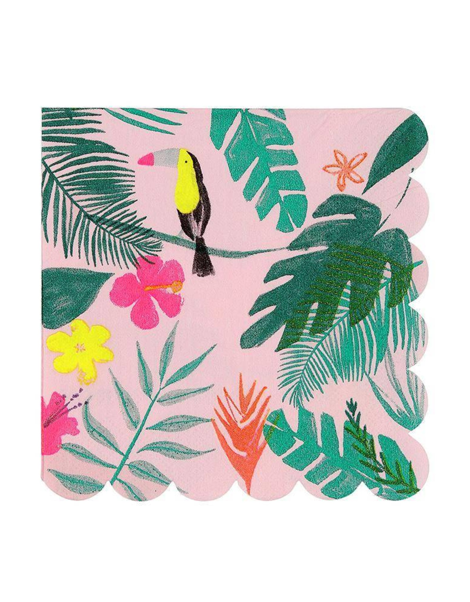 Meri Meri Pink Tropical Small Napkins