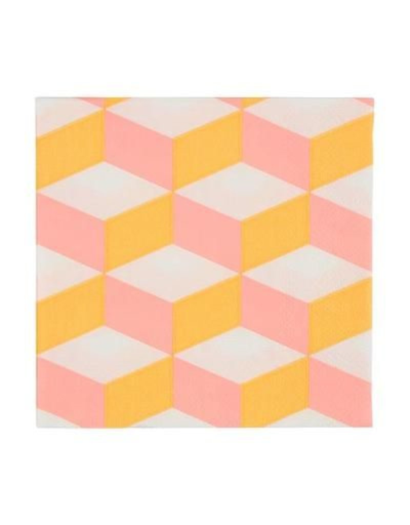 Meri Meri Blush Cubic Small Napkins