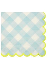 Meri Meri Blue Gingham Small Napkins